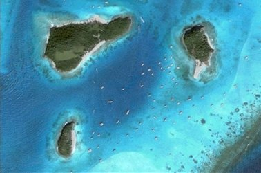 Tobago Cays (Google Earth)